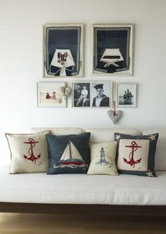 British Nautical by Jan Constantine. Pillows, Art, Cards and more: http://www.janconstantine.com/bon-voyage-card/