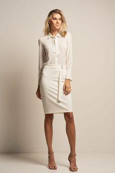 ea5c02e2db Camisa Crepe com Laço Off White - PA Concept