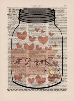 JAR Of HeArTs Dictionary Art Print Jar of by TheRushingRabbit, $9.00