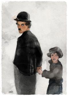 Charlie Chaplin di nadiagelsomina su Etsy
