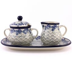 Adorable set of #PolishPottery from http://slavicapottery.com