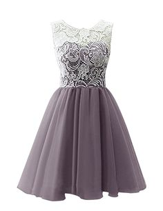Dresstells Short Tulle Prom Dress Bridesmaid Homecoming Gown with Lace: Amazon.co.uk: Clothing