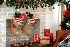 Рождественский чулок из мешковины. Выкройка (4) (588x392, 208Kb)
