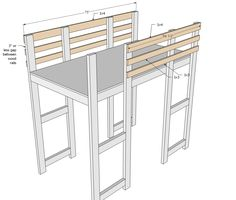 Ana White | Build a Surf Bus or Van Loft Bed | Free and Easy DIY Project and Furniture Plans