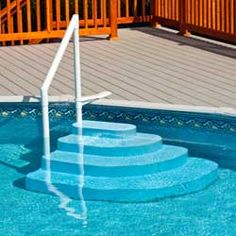 pool ladders and steps make your pool easier to get into quality steps and ladders decks and pool fences for above ground pools and in ground pools