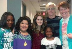Cast of Austin and Ally with fans