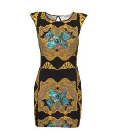 Lipsy Abstract Printed Bodycon Dress