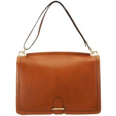 Somerset by Alice Temperley Relton Large Leather Shoulder Bag , Tan (10.090 RUB) found on Polyvore
