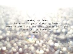 Photo of Light on the Water with Hafiz Quote