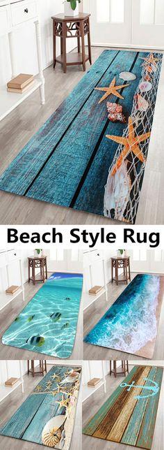 Gorgeous Sea Beach Ideas For Living Room Design 15 Beach Style Rugs, Beach Themes, Beach Ideas, Beach House Decor, Home Decor, Beach Room, Beach Bathrooms, Beach Cottages, Beach Houses