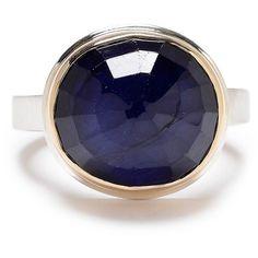 Jamie Joseph Blue Sapphire Ring ($1,200) ❤ liked on Polyvore featuring jewelry, rings, jamie joseph jewelry, blue sapphire ring, jamie joseph, blue sapphire jewelry and jamie joseph rings