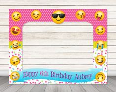 PRINTABLE Shopkins birthday party photo booth frame by HappyBarn
