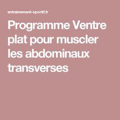 Programme Ventre plat pour muscler les abdominaux transverses