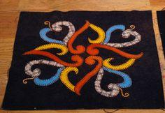 Wool Appliqué quilt block - Intimistic - affairs of the heart
