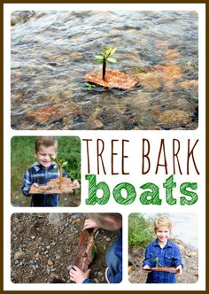 These tree bark boats are a simple and fun way to keep your children occupied outside! All the materials you need are already out there...go get started!