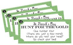 St. Patrick's Day Treasure Hunt {Printable}