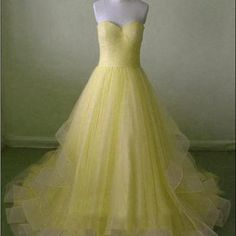 beautiful yellow prom gown, #promdresses, #promdress2017, #partydresses, #promgowns