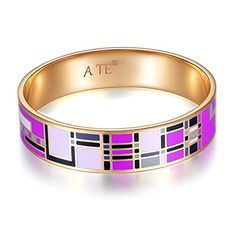 A TE® Enamel Bangle Bracelet Alloy Yellow Gold Plated Fashion Jewelry Mother's Day's Gift Jw-b58 ATE http://www.amazon.com/dp/B00W3AZY1U/ref=cm_sw_r_pi_dp_EtBsvb05T180Y