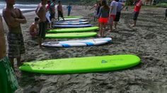 Surfing for the first time in Baler!