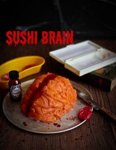 Sushi Brain Halloween @ Not Quite Nigella Halloween Drinks Kids, Halloween Food For Party, Halloween Ideas, Halloween Punch, Halloween Dinner, Halloween Activities, Halloween Costumes, Sushi, Armadillo Cake