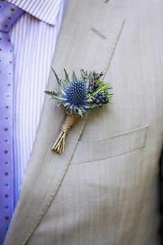 Blue Thistle Boutonniere | by coriander.girl More