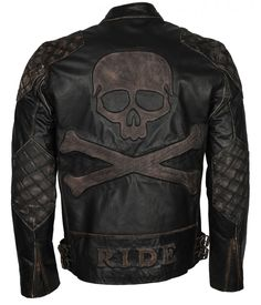 Shop a great selection of Mens Skull & Bones Black Distressed Leather Vintage Motorcycle Leather Jacket. Find new offer and Similar products for Mens Skull & Bones Black Distressed Leather Vintage Motorcycle Leather Jacket. Distressed Leather Jacket, Men's Leather Jacket, Vintage Leather Jacket, Leather Jackets, Biker Jackets, Men's Jackets, Leather Jacket Styles, Motorbike Jackets, Motorcycle Leather