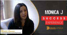 Monica J speak her success experience with Create Australia Refund Consulting Program Programming, Freedom, Success, Australia, Let It Be, Watch, Learning, Luxury, Create