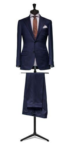 Blue suit Faux uni S110 http://www.tailormadelondon.com/shop/tailored-suit-fabric-4343-plain-blue/
