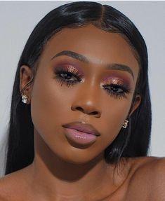 46 Ideas For Birthday Makeup Looks Dark Skin - Makeup İdeas Graduation Brown Skin Makeup, Pink Makeup, Glitter Makeup, Cute Makeup, Girls Makeup, Gorgeous Makeup, Beauty Makeup, Makeup Goals, Teen Makeup