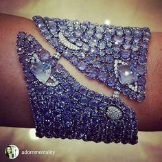 repost from @adornmentality Check out this stunning #sapphire #cuff by @ethomaria