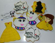 Pedido de ayer! ❤😘😍👌💛😱😃 #beautyandthebeast #mycookiecreations #cookies #disneycookies #beautyandthebeastcookies #disney