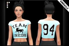 Unicorn Pastels Crop Top at Simiracle via Sims 4 Updates