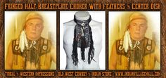 Attractive Handmade Half Breastplate/Choker - Black Hairpipe Bone From Tribal And Western Impressions- Old West çowboy And Indian Store- www.indianvillagemall.com