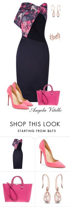 """Untitled #757"" by angela-vitello on Polyvore featuring Antonio Berardi, Christian Louboutin, Victoria Beckham and Yves Saint Laurent"