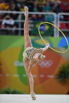 Yana KUDRYATSEVA (Russia) ~ Hoop - SILVER MEDAL @ Olympic Games São Paulo-Brasil 2016  Photographer Oleg Naumov.