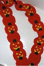 Free Crochet Halloween Scarf Pattern.
