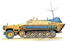 German SdKfz. 251/6 communications vehicle in North Africa, Apr 1941