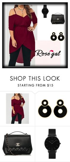 """Rosegal contest"" by halo-393 ❤ liked on Polyvore featuring Chanel and CLUSE"