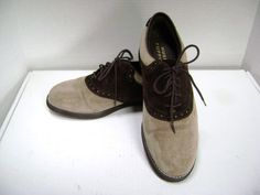 I remember these! Wore them the whole time I was growing up!   Saddle Shoes Hush Puppy Suede Vintage Classic by junquegypsy, $34.90