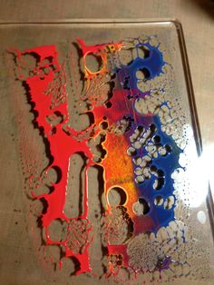 Claudine's Art Corner: Playing With Tim's Holtz Paints & my Gelli Plate