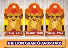 The Lion Guard favor tags.Lion Guard printable labels. Lion Guard birthday.Lion…