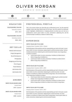 Resume Template Professional Resume Cover Letter 5 Page Job Resume, Best Resume, Resume Tips, Resume Skills, Project Manager Resume, Free Resume, Professional Profile, Professional Resume, Google Docs
