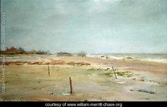 Beach Scene Painted by:William Merritt Chase