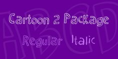 Cartoon 2 Package Font Family · 1001 Fonts