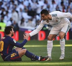 Cristiano y Messi el clasico Real Madrid vs Barcelona