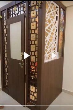 pooja bedroom staircase door puja kitchen doors mandir partition under ru makeover rooms newsalertpro cynthiawallpaper walls indian cookingruthie living yesmissy