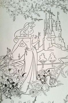 ディズニーガールズ 塗り絵|たーこのコロリアージュ日記-2ページ目