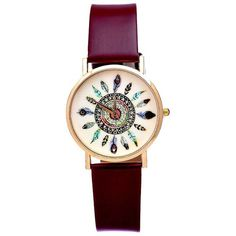 Amazon.com: cnomg Peacock Girls Womens Elegant Watches Leather Band Quartz Watch (Brown): Arts, Crafts & Sewing