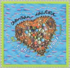 Stamp: Valentine - The heart of Christian Lacroix (France) (Valentine's Day)…