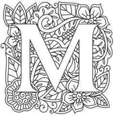 Letter M Coloring page Coloring Pages Pinterest English